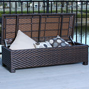 Santiago Outdoor Wicker Storage Ottoman