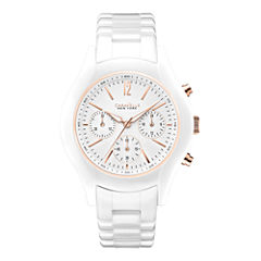 Caravelle New York® Womens White Dial Chronograph Watch 45L144