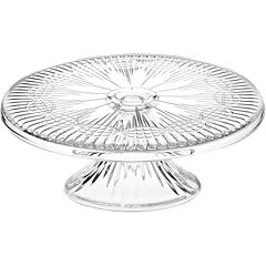 Regency by Godinger Crystal Cake Plate