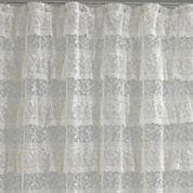Priscilla Ruffled Lace Shower Curtain