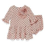 Marmellata Long-Sleeve Polka-Dot Dress - Baby Girls 3m-24m