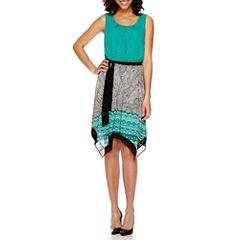 Alyx® Sleeveless Belted Asymmetrical-Hem Dress