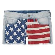 Arizona American Flag Denim Shorties - Girls 7-16 and Plus