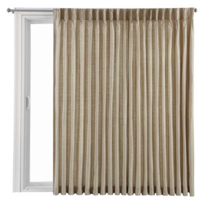 Elegant Royal Velvet® Supreme Pinch Pleat/Back Tab Lined Patio Door Panel