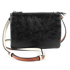 Mondani Brea Double Zip Crossbody Bag