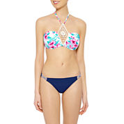 Arizona Tropical Floral Bandeau Swimsuit Top or Hipster Bottom-Juniors