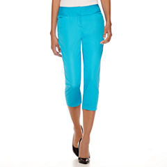 Worthington® Wide-Waistband Cropped Pants - Tall