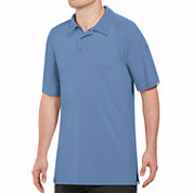 Red Kap Wrinkle Resistant Short Sleeve Solid Knit Polo Shirt Plus