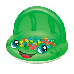 Bestway 38 Inch x 26 Inch Shaded Play Pool Frog