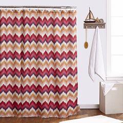 Popular Bath Flame Stitch Shower Curtain
