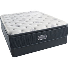 Simmons Beautyrest Silver® Snowhaven Pillowtop Plush - Mattress + Box Springs