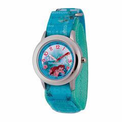 Disney The Little Mermaid Girls Blue Strap Watch-Wds000047