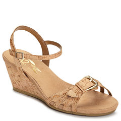 A2 by Aerosoles Crumb Cake Womens Wedge Sandals
