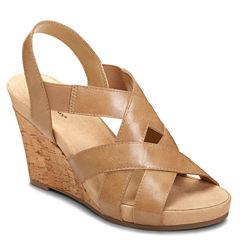 A2 by Aerosoles Swim Plush Womens Wedge Sandals