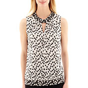 Worthington® Sleeveless Keyhole Top