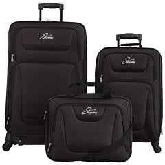 Skyway® Glacier Peak Black 3-pc. Luggage Set