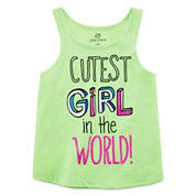 Okie Dokie® Graphic Tank Top - Baby Girls newborn-24m