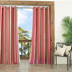 Parasol Windley Key Stripe Indoor/Outdoor Grommet-Top Curtain Panel