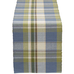 Design Imports Lake House Plaid Table Runner