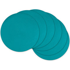 Design Imports Woven Set of 6 Round Placemats