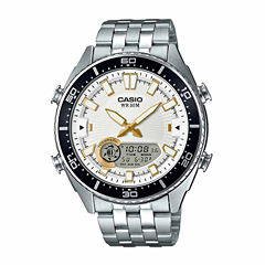 Casio Mens Silver Tone Bracelet Watch-Amw-720d-7av