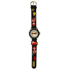 Olivia Pratt Kids Firefighter Black Strap Watch-17184