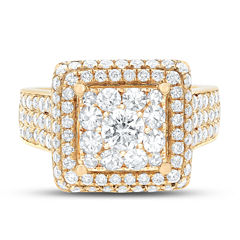 Limited Quantites Womens 2 1/2 CT. T.W. White Diamond 14K Gold Cocktail Ring