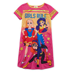 Short Sleeve Nightshirt-Big Kid Girls