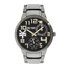 Zoo York® Mens Gold-Tone Gunmetal Gray Bracelet Watch