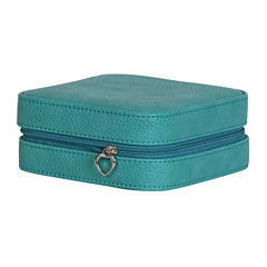 Mele & Co. Josette Turquoise Faux-Leather Jewelry Travel Case