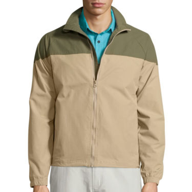 St. Johns Bay Mens Terra-Tek Colorblock Jacket in Brit Khaki-Green