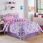 VCNY Kennedy Reversible Complete Bedding Set withSheets