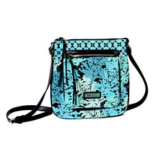 Waverly Blue Green Quilted Medium Crossbody Bag