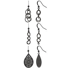 Bold Elements 3-pc. Earring Sets