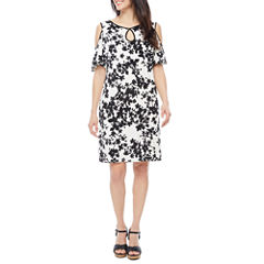 Melrose Short Sleeve Cold Shoulder Shift Dress