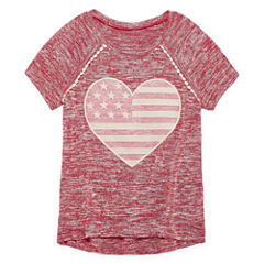 Arizona Sequin Americana Raglan Tunic - Girls' 7-16 and Plus