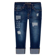 Vgold Denim Cropped Pants - Big Kid Girls