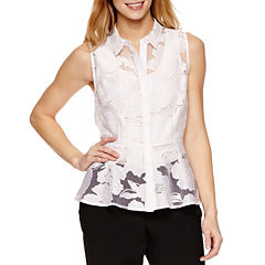 Worthington Sleeveless Peplum Top Petites