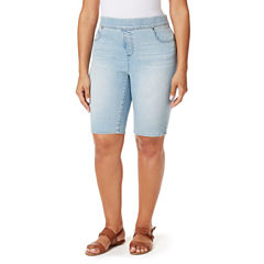Gloria Vanderbilt Classic Fit Knit Bermuda Shorts-Plus