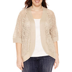 Liz Claiborne Elbow Sleeve Shrug-Plus