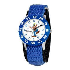 Disney Time Teacher Goofy Blue Fast Strap Watch