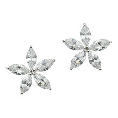 CZ by Kenneth Jay Lane Marquise-Flower Earrings