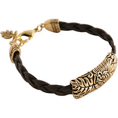 Art Smith by BARSE Floral Brown Leather Bracelet