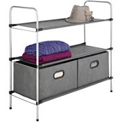 Sophisticate 3-Tier Shelf + Drawers