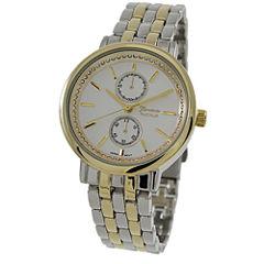Geneva Platinum Womens Two Tone Bracelet Watch-1534