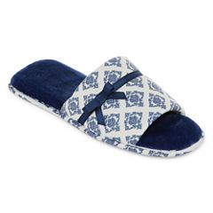 Liz Claiborne Jersey Slip-On Slippers