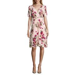 Renn Short Sleeve Wrap Dress