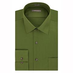 Van Heusen No-Iron Lux Sateen Fitted Long Sleeve Dress Shirt