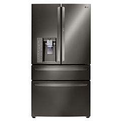 LG ENERGY STAR® 29.7 cu. ft. Super Capacity 4-Door French Door Refrigerator with CustomChill® Drawer