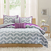 Intelligent Design Peyton Chevron Duvet Cover Set